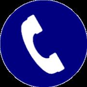 Icone phone bleu clair 1