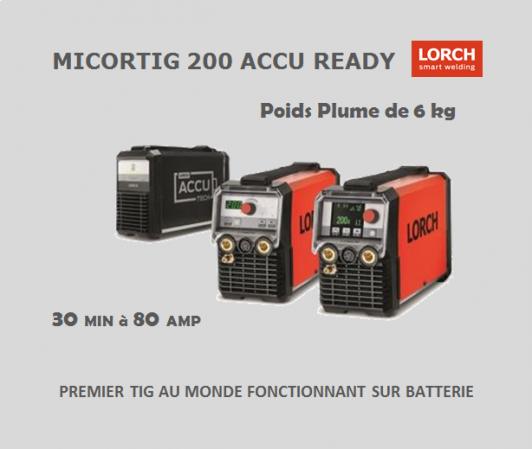 Micortig 200 amp lorch poste tig sur batterie premier au monde partenaire clermont soudure auvergne limousin